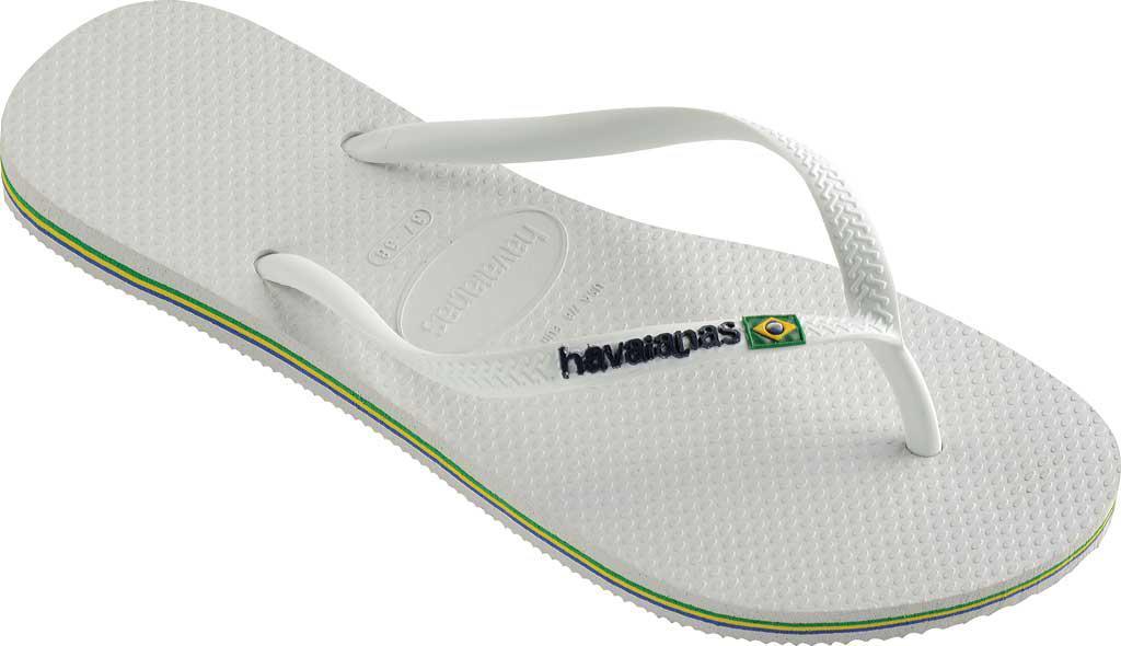 62b846a9c42b80 Havaianas - White Slim Brazil Flip Flop - Lyst. View fullscreen