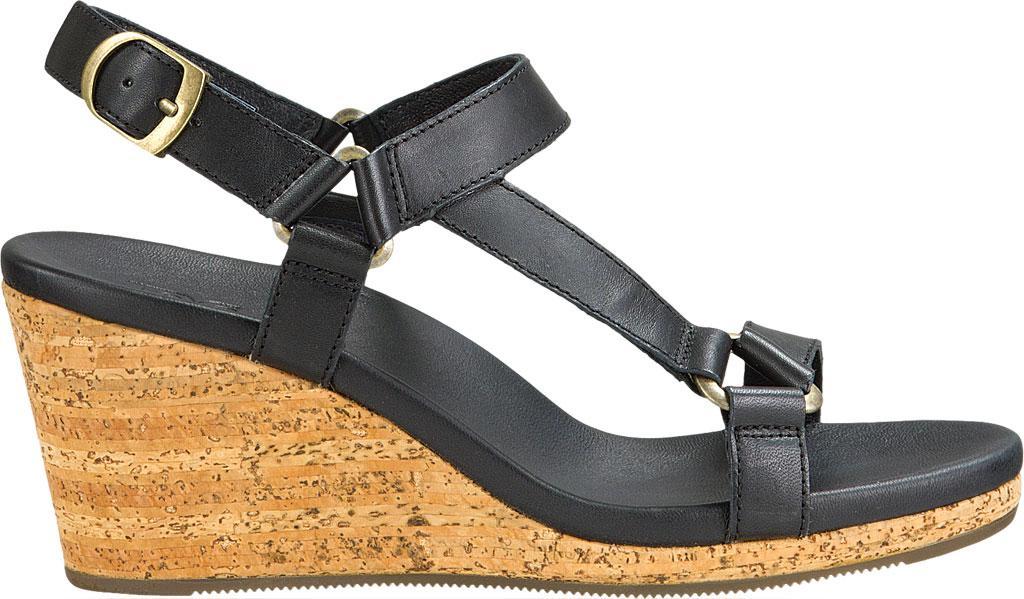 a45956b2f5a3 Teva - Black Arrabelle Universal Leather Wedge Sandal - Lyst. View  fullscreen