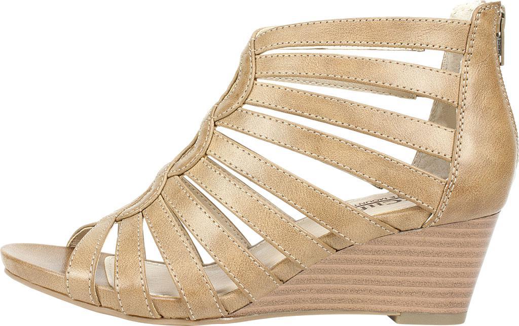 bd1326b12319 White Mountain Footwear - Natural Victoria Gladiator Wedge Sandal - Lyst.  View fullscreen