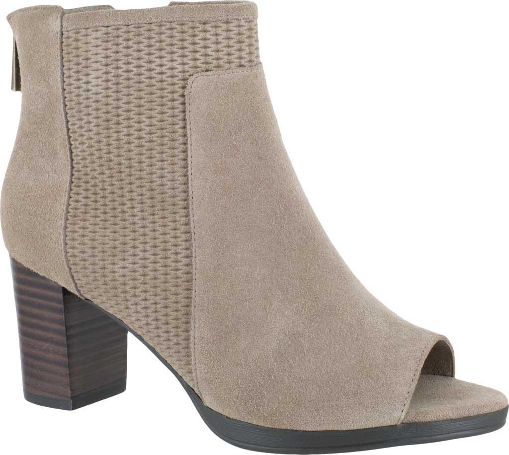 Bella Vita Luna Open Toe Bootie(Women's) -Grey Suede Discount 100% Authentic SXRvH