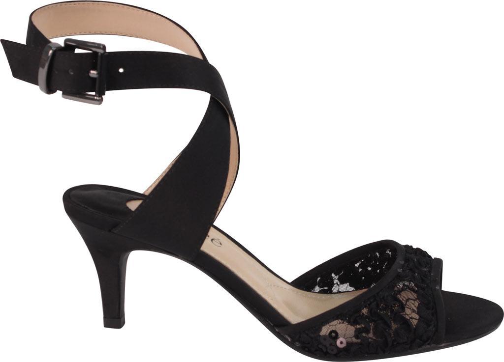 190ab1241011 J. Reneé - Black Soncino Criss Cross Ankle Strap Mid Heel Sandal - Lyst.  View fullscreen