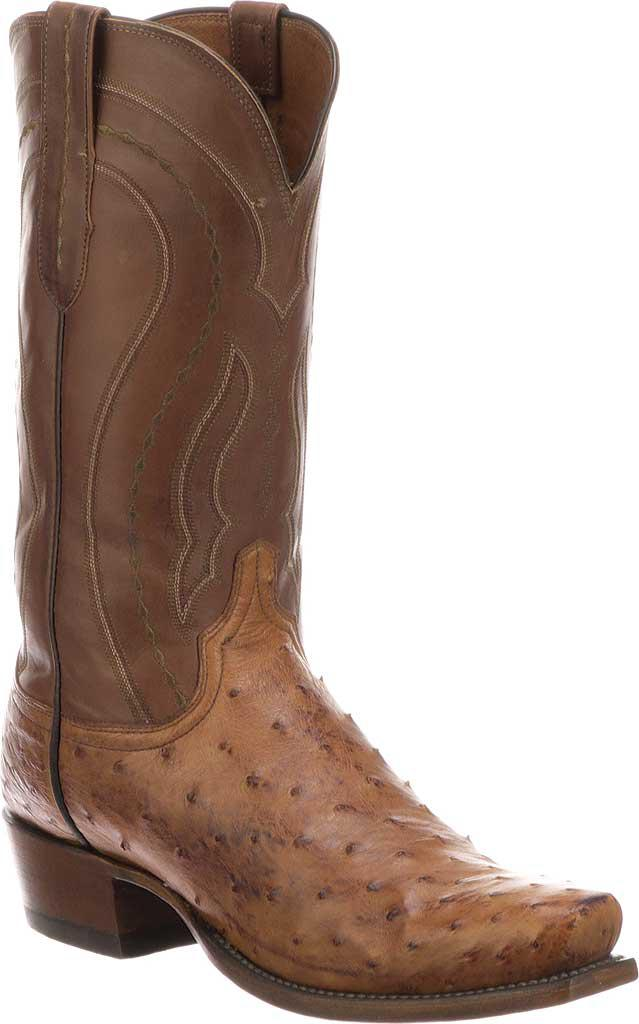 Shopping Online For Sale Clearance Buy Lucchese Bootmaker Garrett W Toe Cowboy Boot(Men's) -Barnwood Burnished Full Quill Ostrich Cheap Sale Pre Order Discount Limited Edition Latest Collections For Sale 8tmdo55