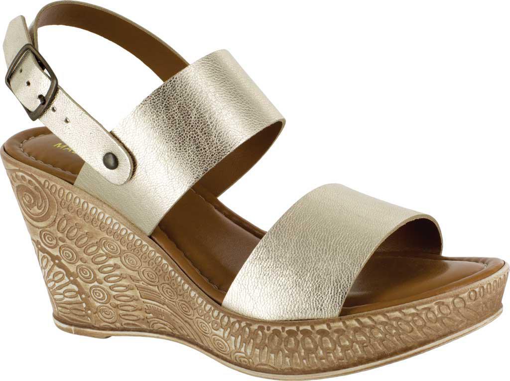 6c624cb6c8b Lyst - Bella Vita Cor-italy Wedge Sandal in Metallic