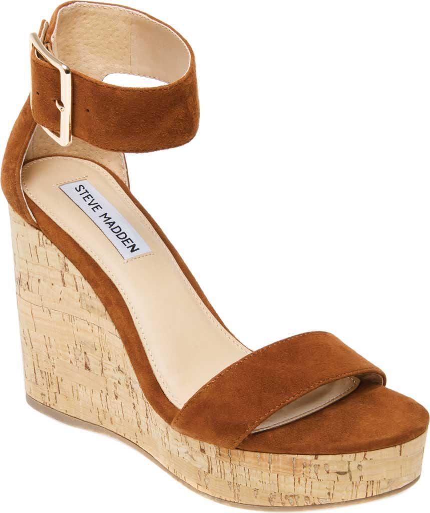 1d8afec235a Lyst - Steve Madden Visible Ankle Strap Sandal in Brown
