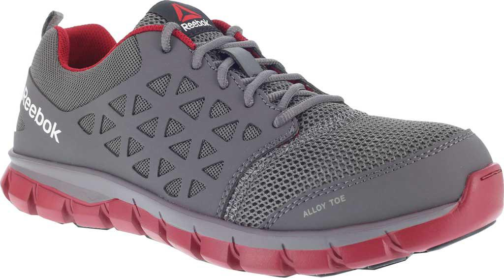 Lyst - Reebok Rb4048 Sublite Cushion Work Alloy Toe Oxford in Gray ... ea279f943