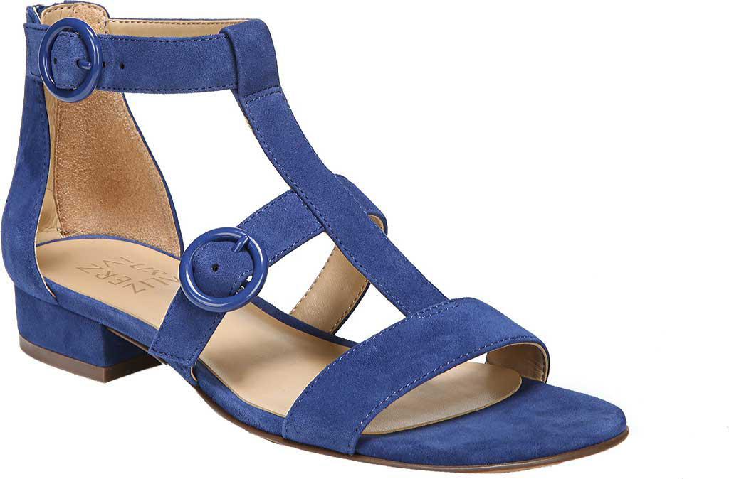 6f7e10955e7d Lyst - Naturalizer Mabel Flat Sandal in Blue