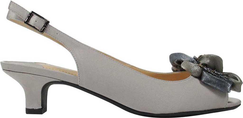 aaf2d5c6c398 J. Reneé - Gray Leonelle Low Heel Open Toe Slingback - Lyst. View fullscreen
