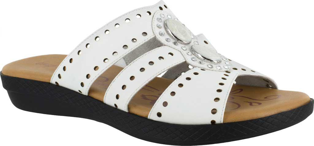 471049a891605 Lyst - Easy Street Vara Jeweled Sandals in White - Save 2%