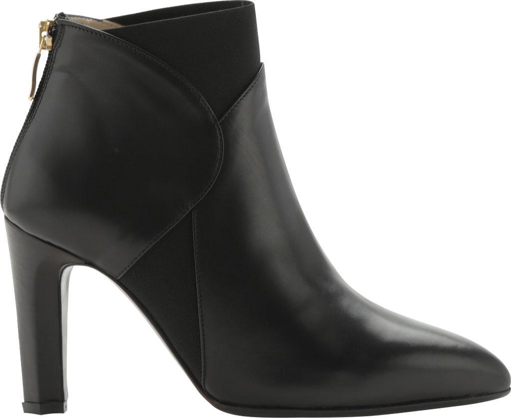 Joan Oloff Alyson Leather and Elastic Bootie (Women's) lUTToiRlf
