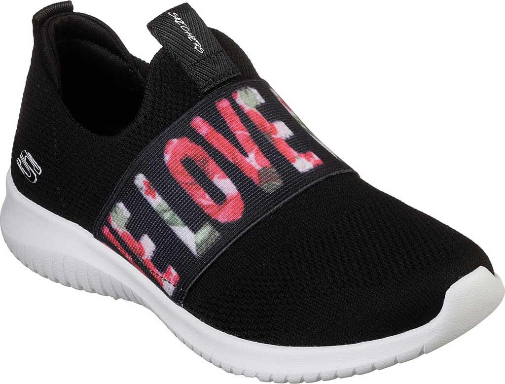 f89e53c03033 Lyst - Skechers Ultra Flex Love First Slip-on Sneaker in Black