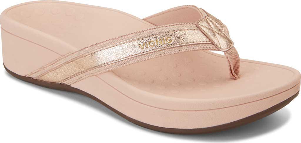7f5e467512dc Lyst - Vionic High Tide Toe Post Sandal in Pink
