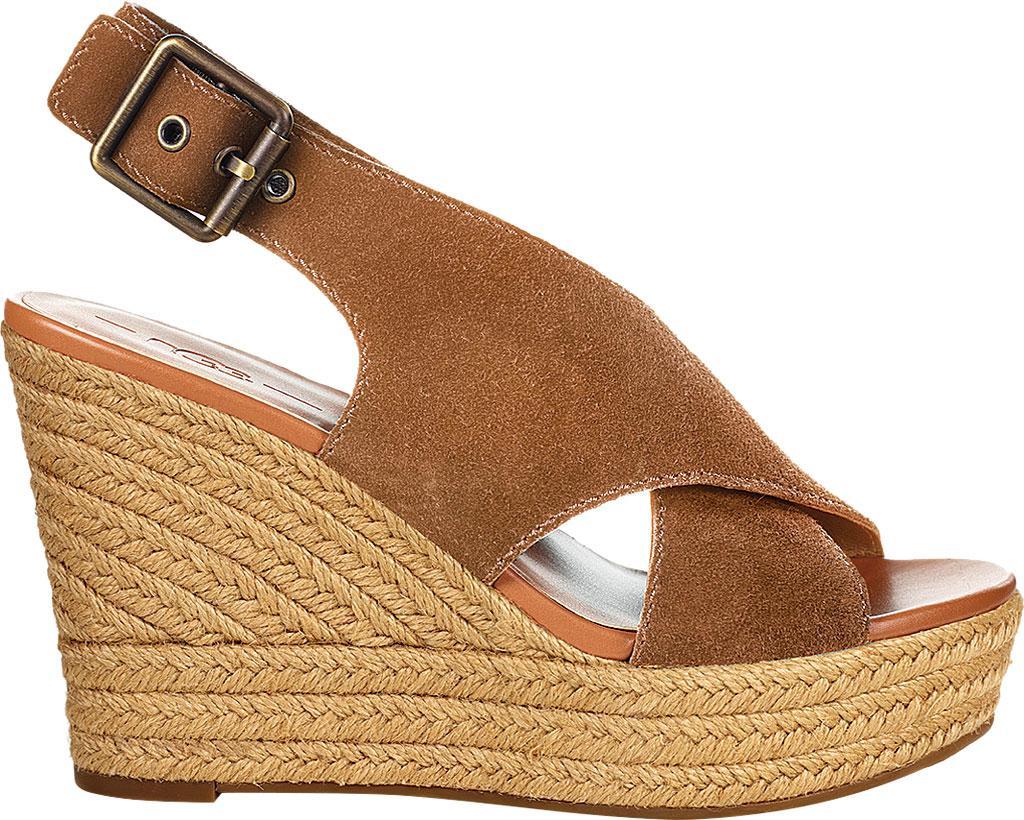 Harlow Suede Slingback Peep-Toe Wedge Espadrille Sandals tJN96Q