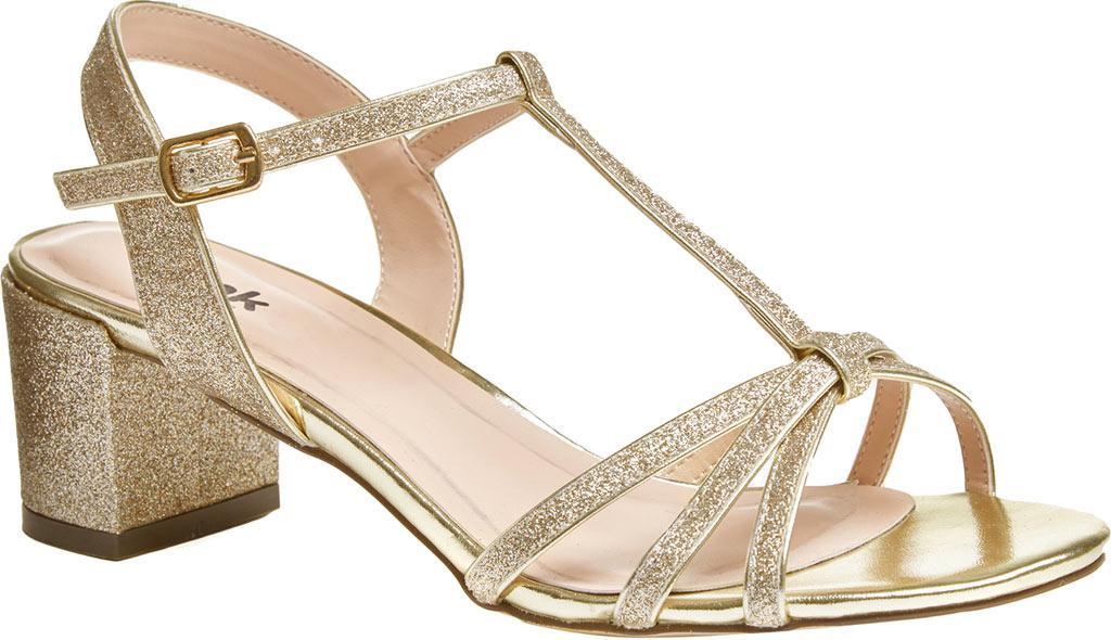 fb38d52e98e Lyst - Paradox London Pink Sadie Formal T-strap Sandal in Metallic ...