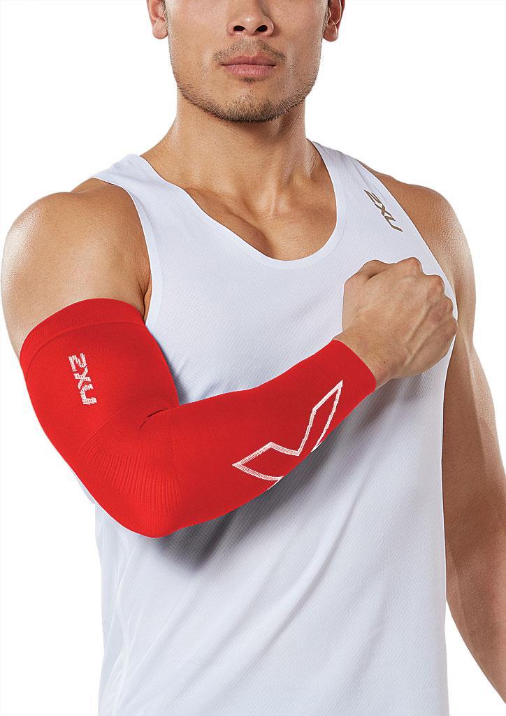 cfa6894ffc Lyst - 2XU Flex Compression Run Arm Sleeve in Red for Men