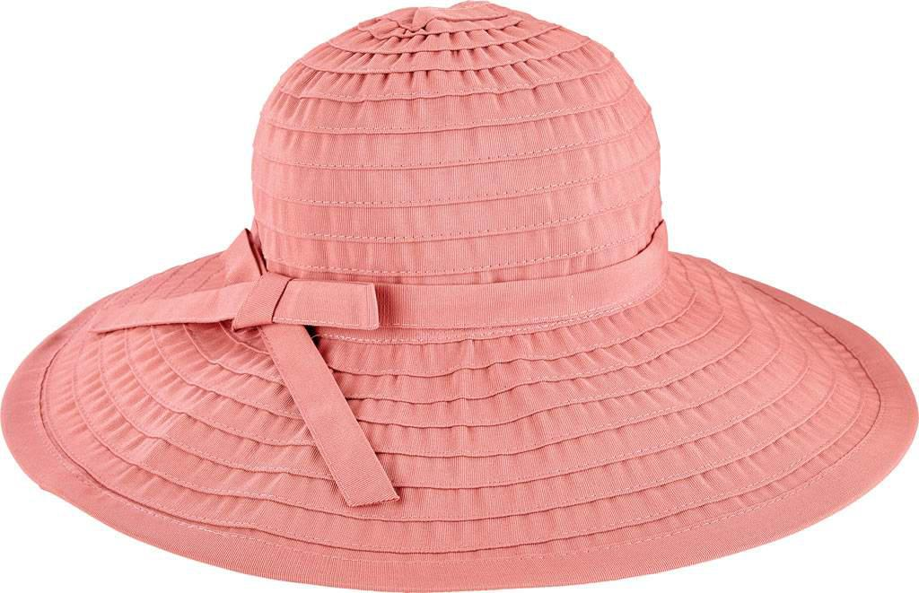 9c2c9f231cef7f Lyst - San Diego Hat Company Ribbon Large Brim Hat W/ Bow Rbl299 in Pink