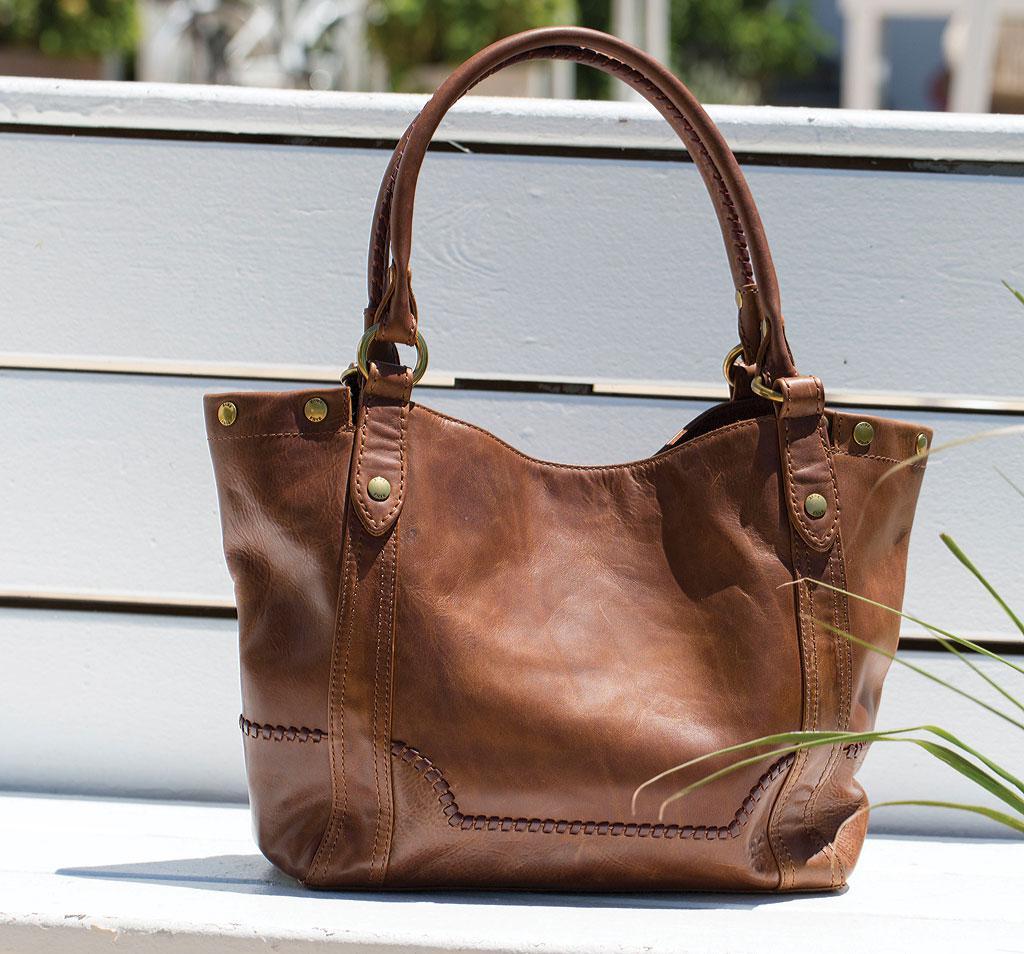 0bb8fb8d2bf Frye Melissa Whipstitch Shoulder Bag in Brown - Lyst