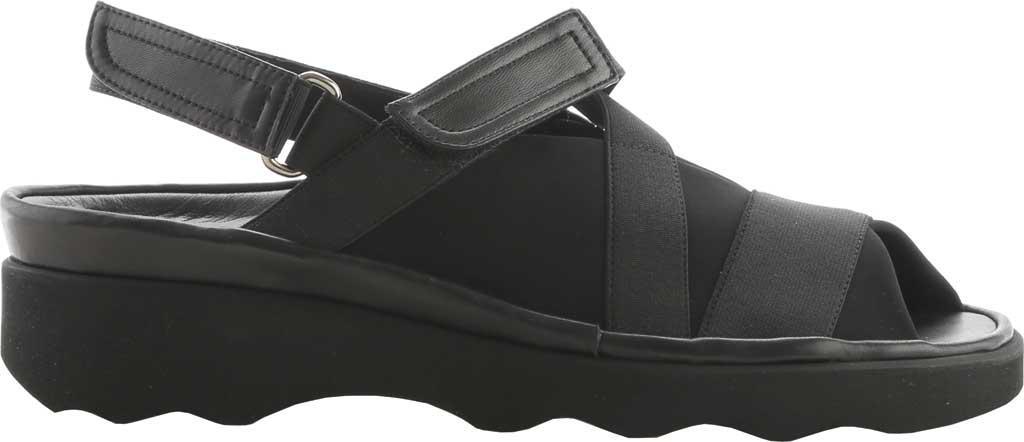 Thierry Rabotin Wyeth Stretch-Fabric Wave Design Sandal (Women's) qjNpXVs