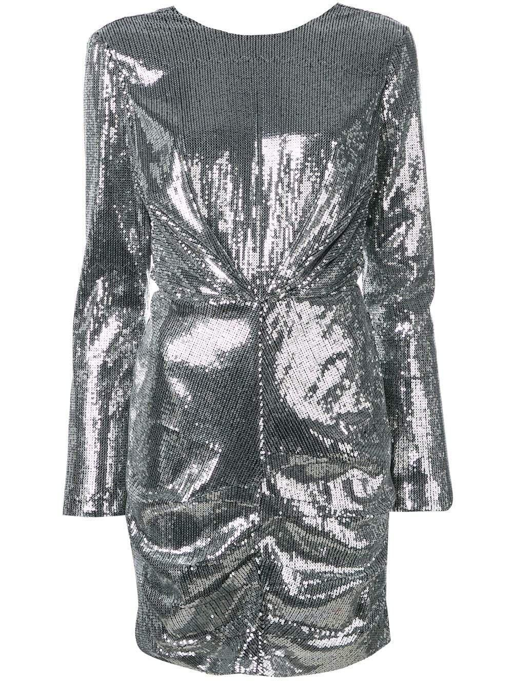 Short Silver Sequin Dress