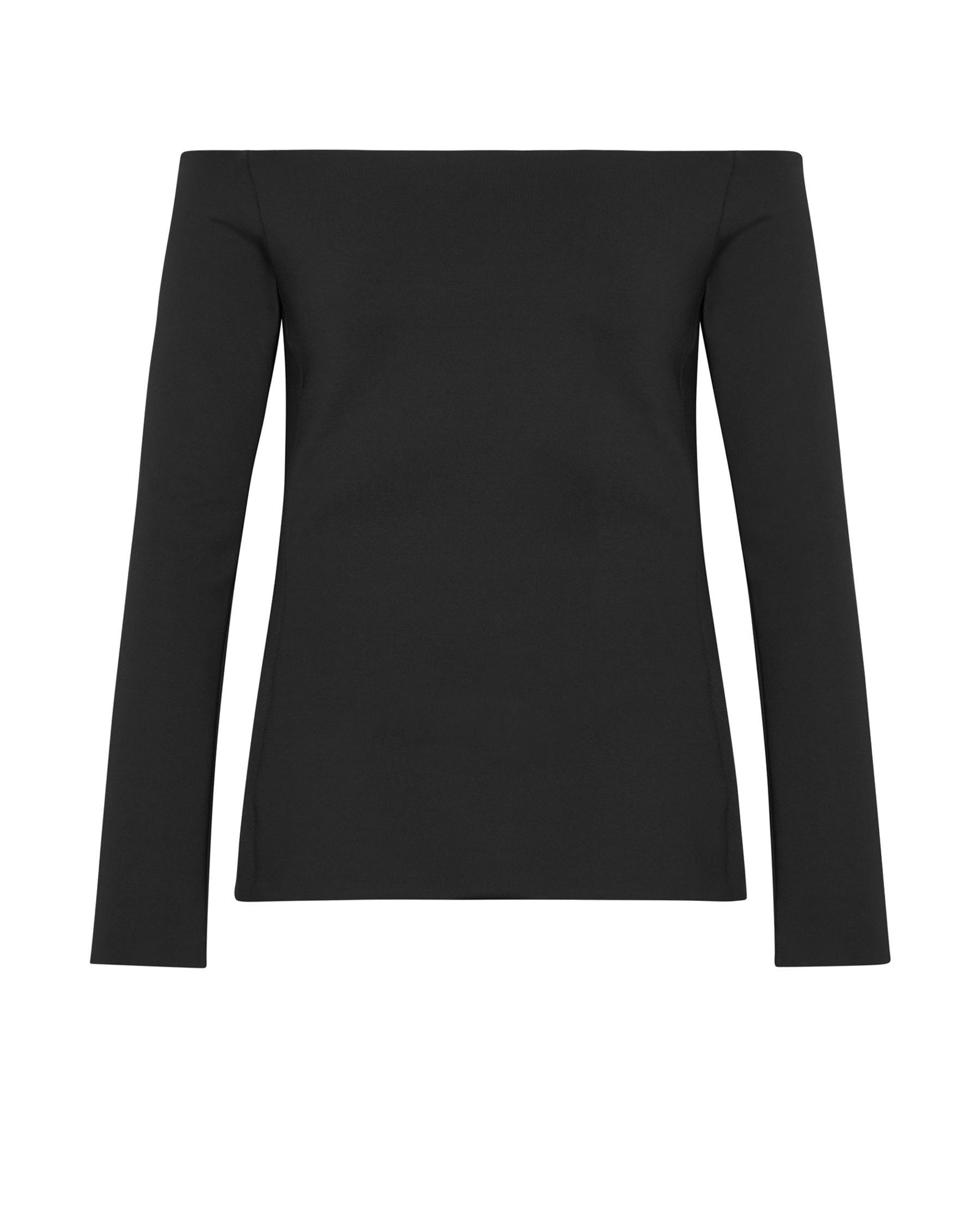 e675135cae02 Lyst - Theory Mod Knit Off-the-shoulder Fitted Top Black in Black