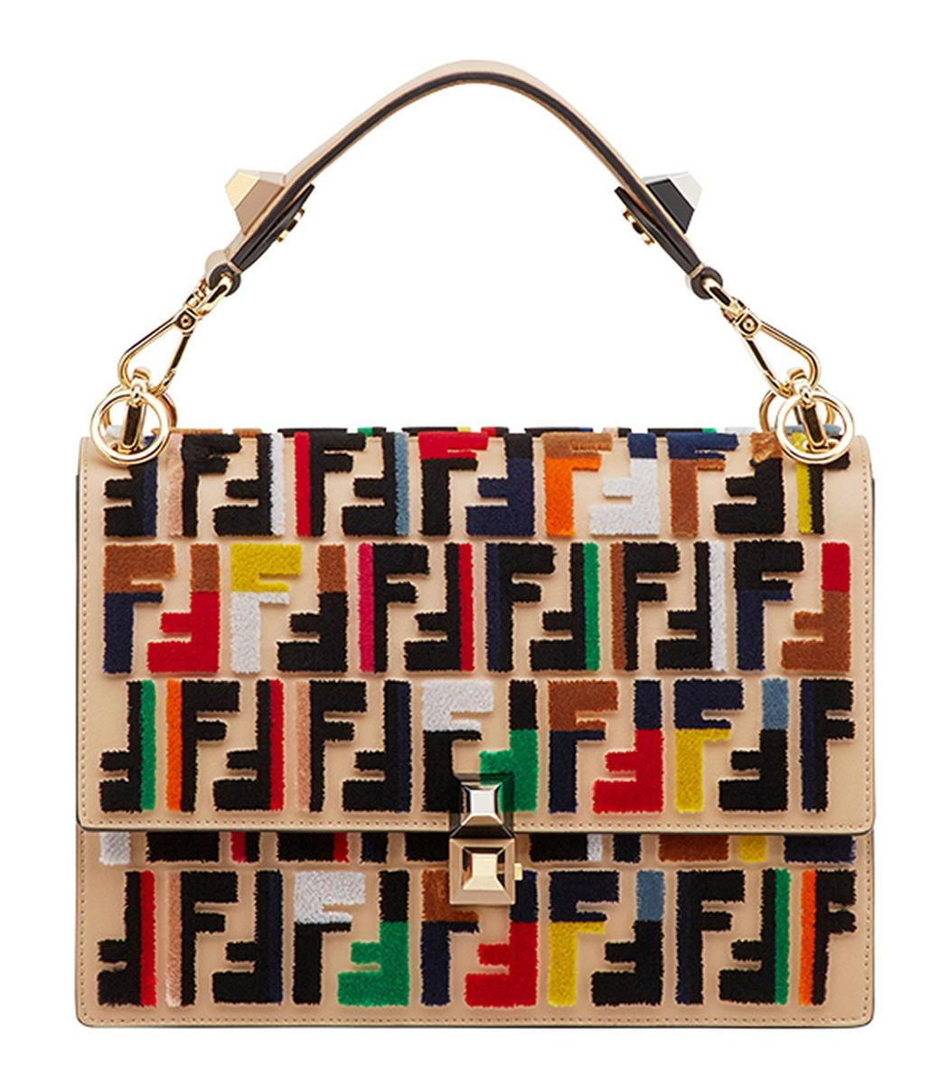 dd7f95f7396f Lyst - Fendi Multicolor Kan I Logo Shoulder Bag