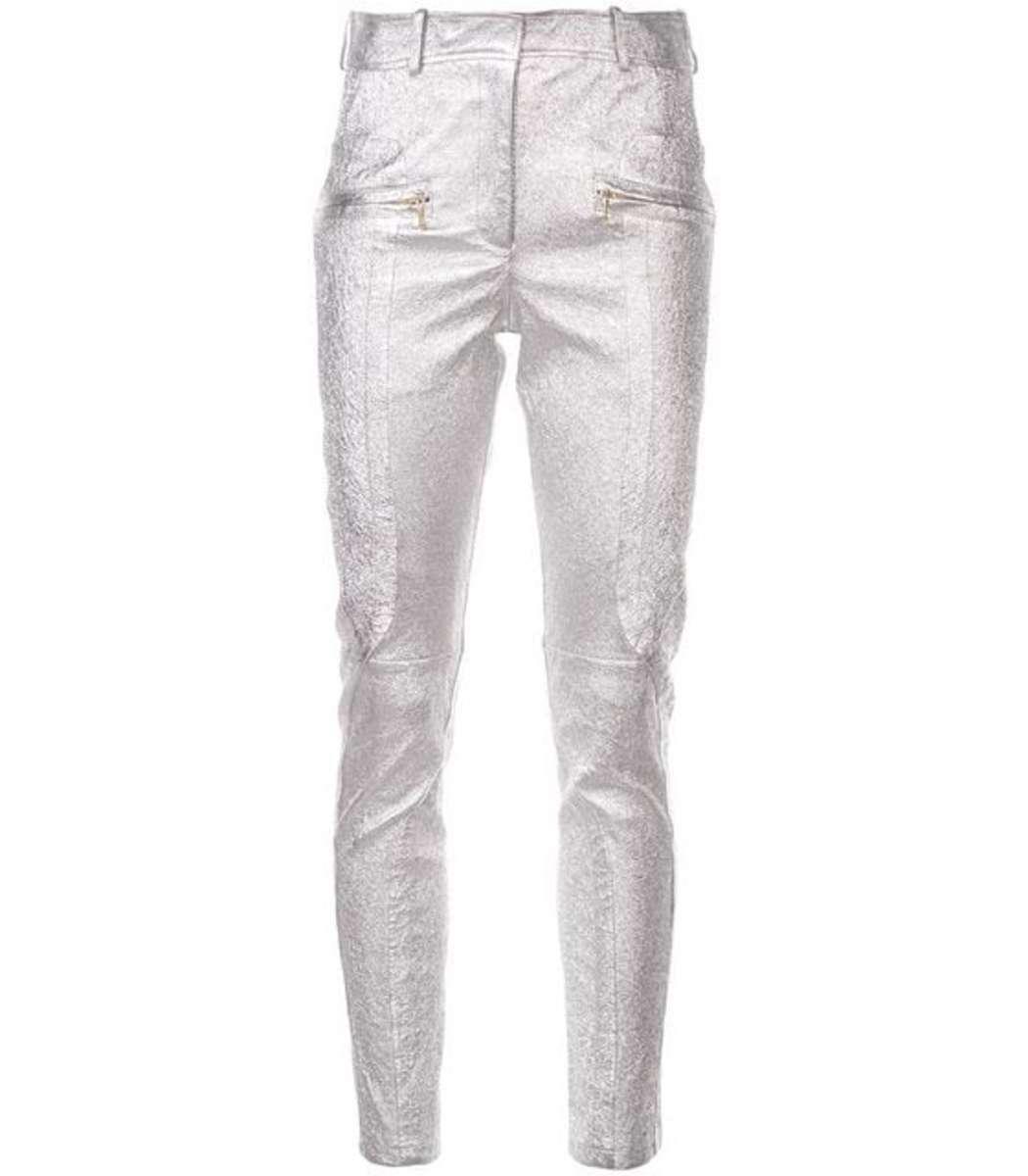 7b7c5905b37 Lyst - Sies Marjan Silver Skinny Trousers in Metallic
