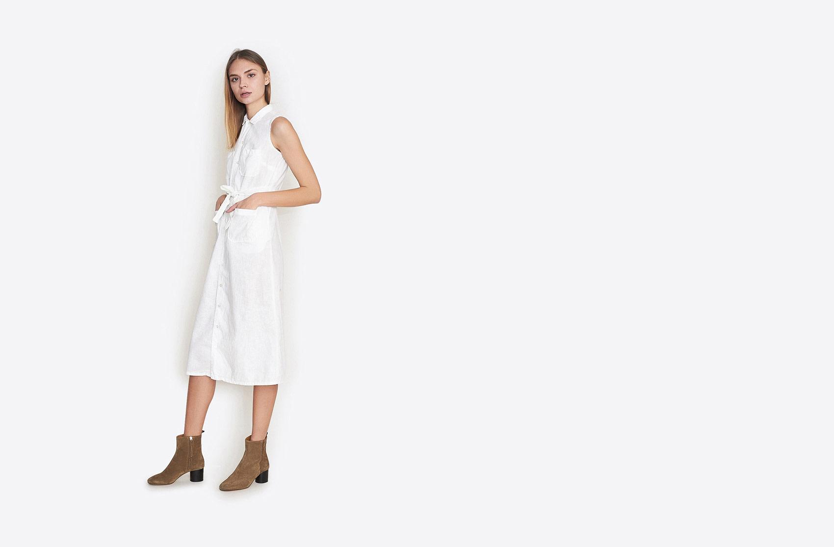 Fwk By Engineered Garments Classic Shirt Dress In White Lyst