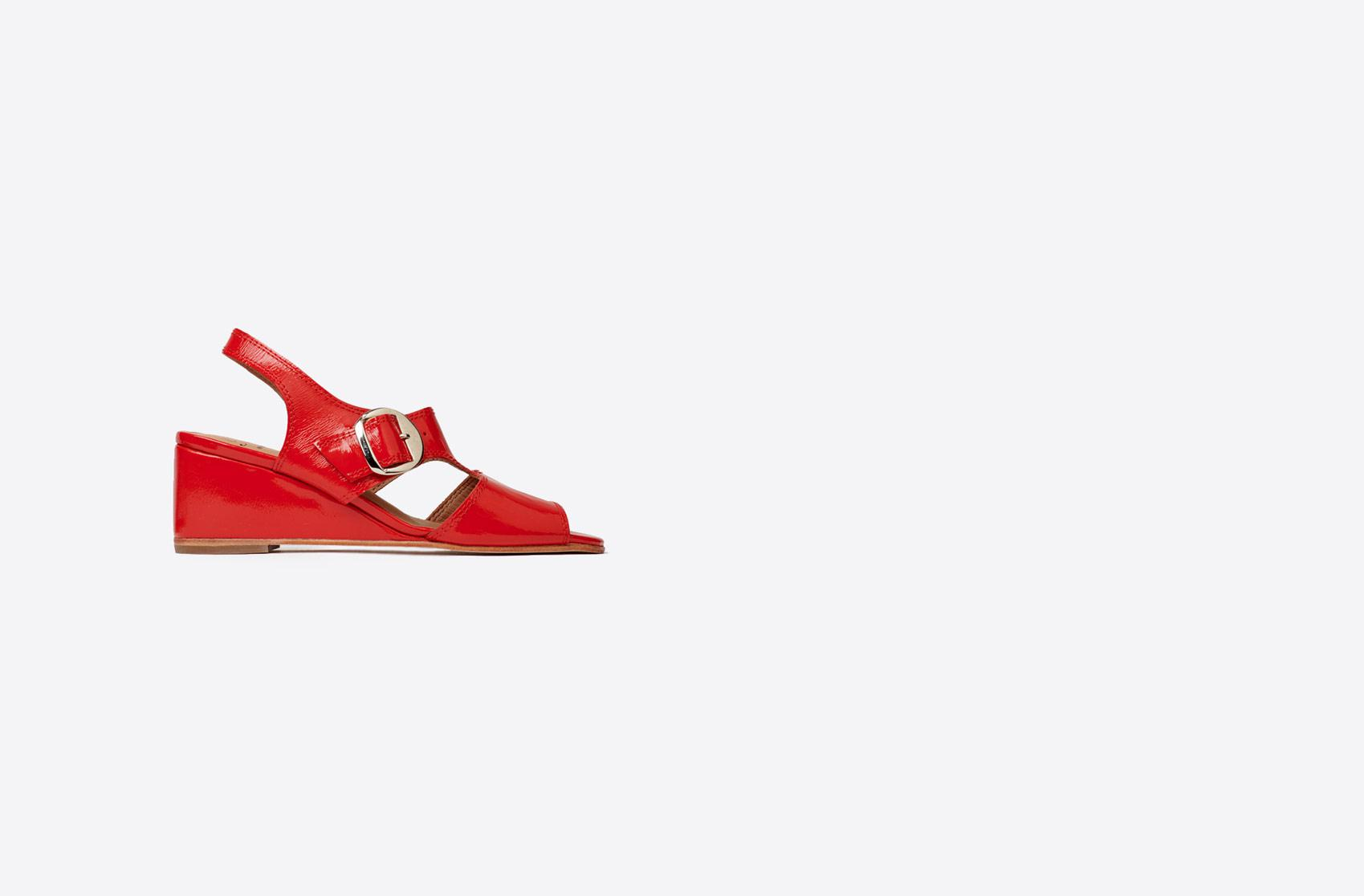 5d6805b6f00 Lyst - No. 6 Margo Slingback Sandal in Red