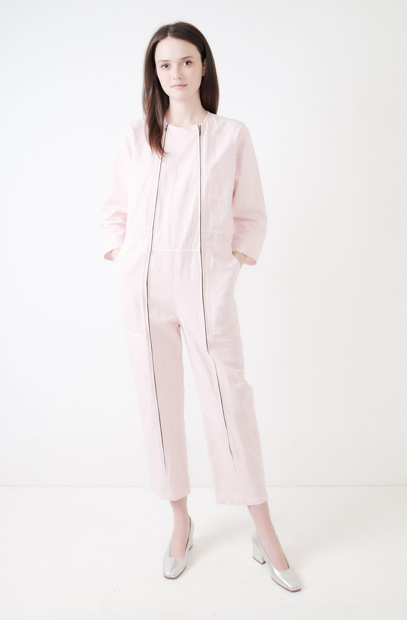 199f98b62fcd Lyst - Caron Callahan Ace Jumpsuit in Pink
