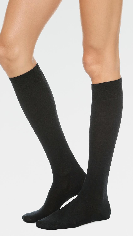 3011272d154 Falke - Black Soft Merino Knee High Socks - Lyst. View fullscreen