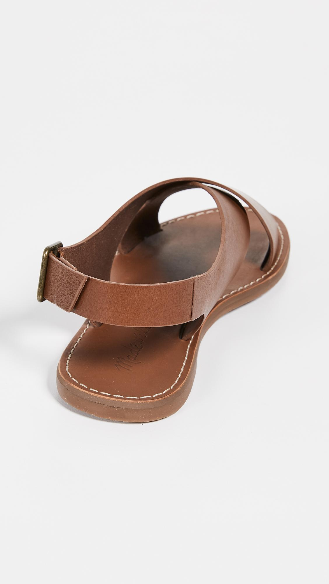 892a71a678becc Madewell - Brown Boardwalk Crossover Sandals - Lyst. View fullscreen
