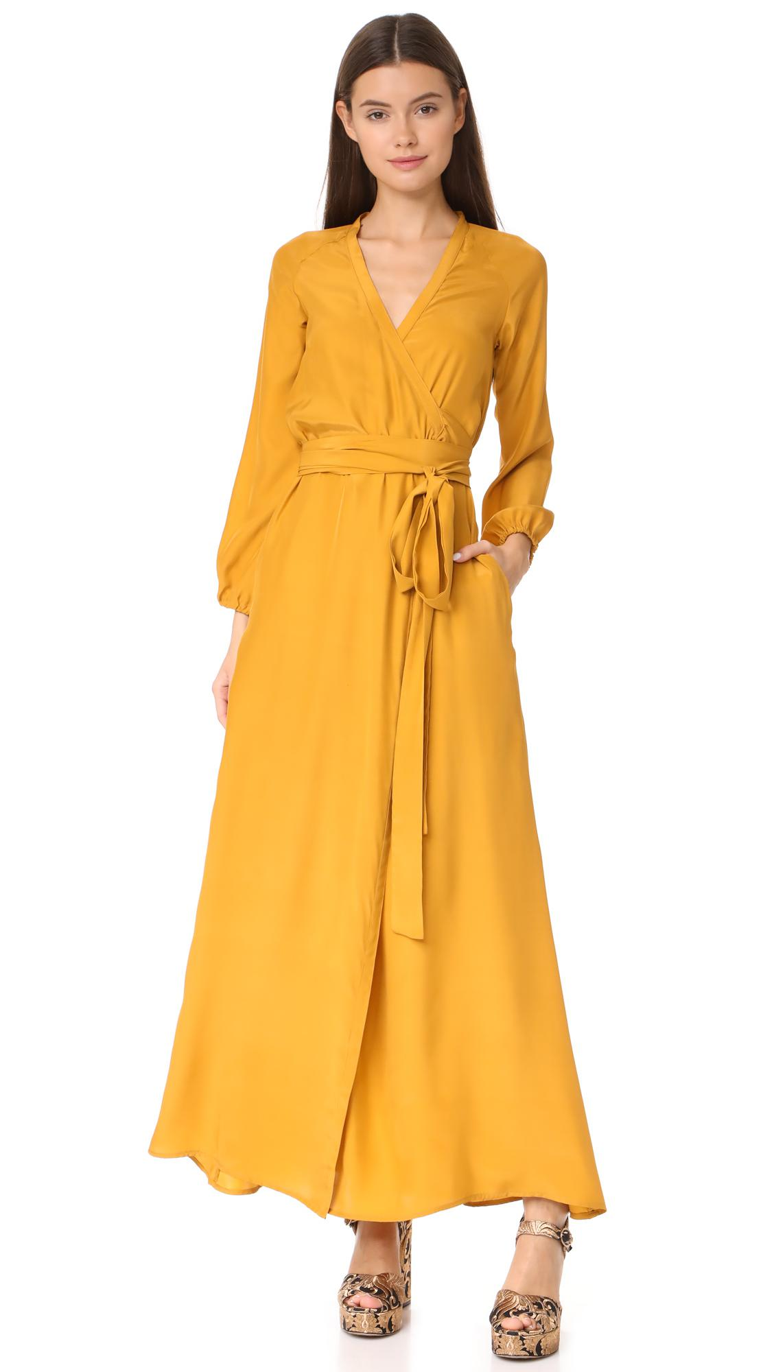 5878efdbd3f7 Rhode Resort Jagger Wrap Dress in Yellow - Lyst