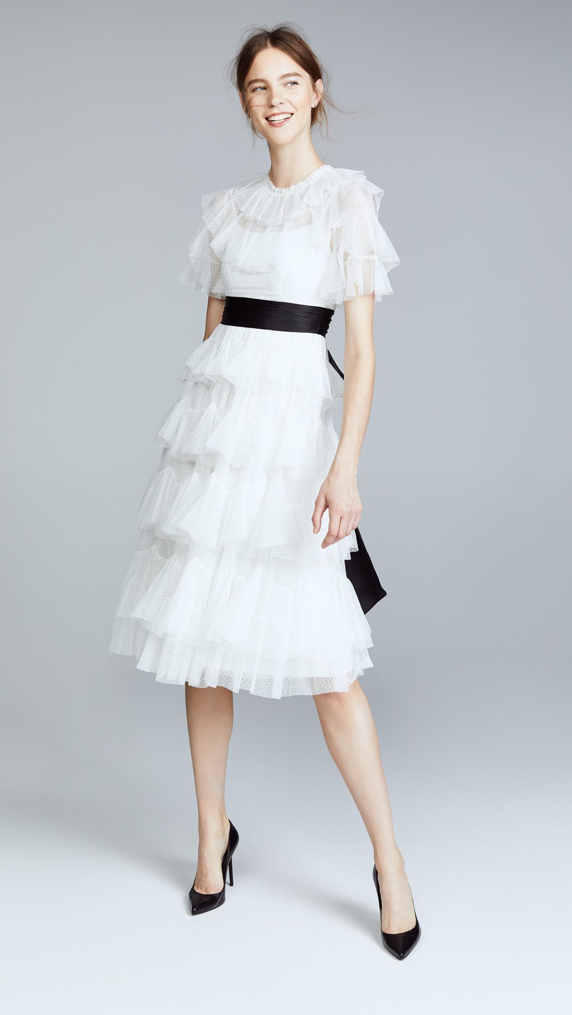 9762a0fe2cb Needle   Thread Scallop Tulle Midi Dress - Lyst