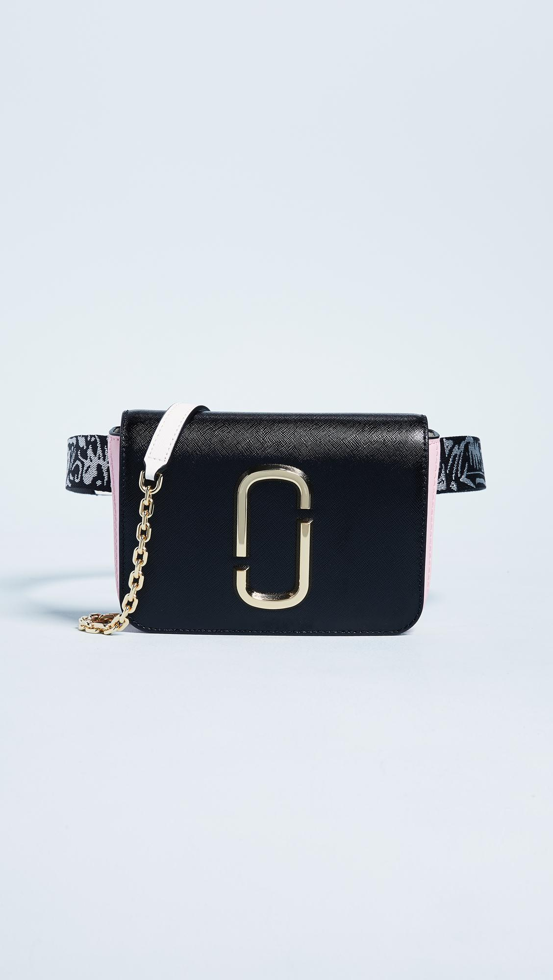 The Hip Shot Convertible Textured-leather Belt Bag - Black Marc Jacobs nTEnmtl