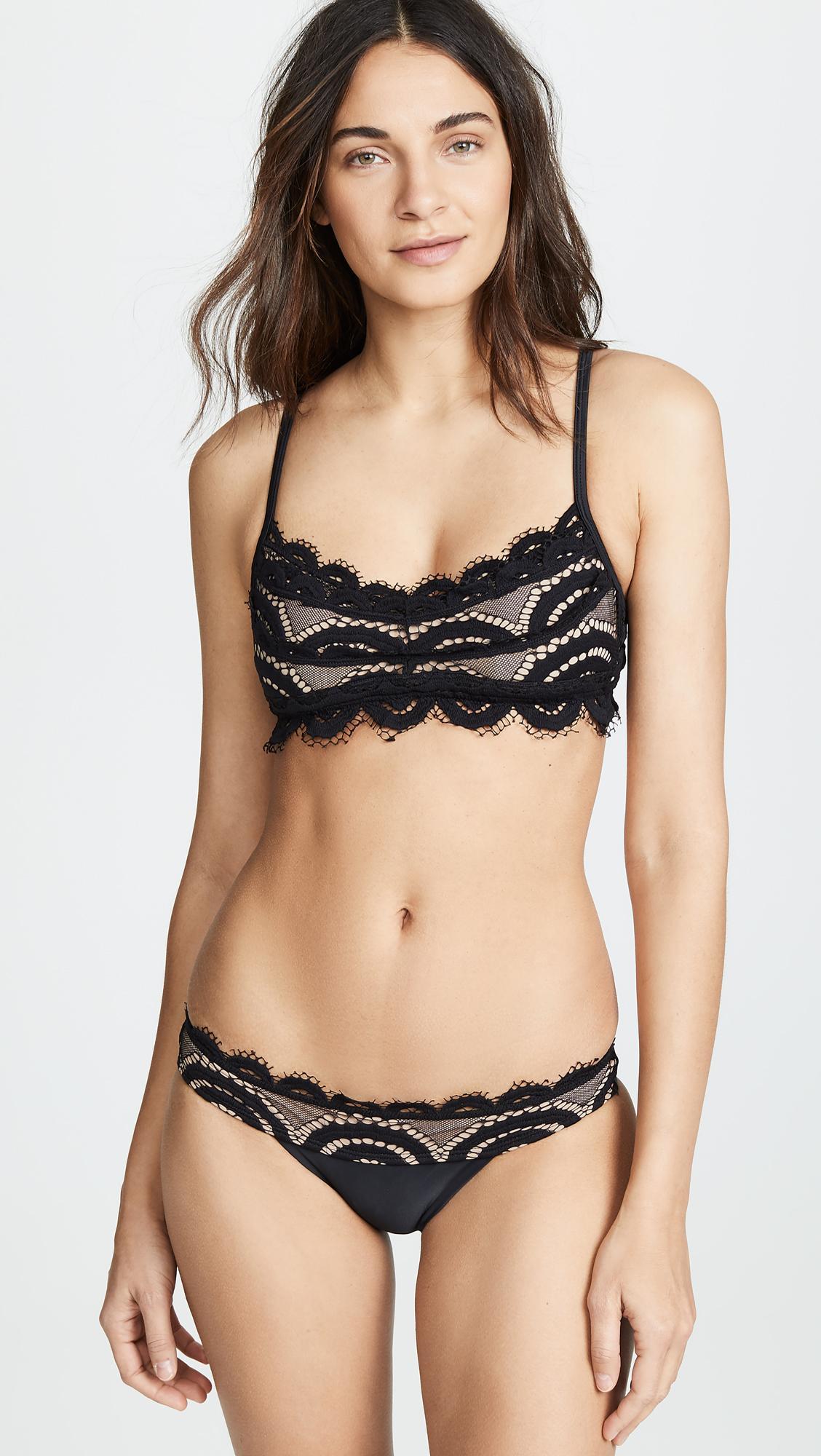 bf9ad7ec1f Pilyq. Women s Lace Bralette Bikini Top