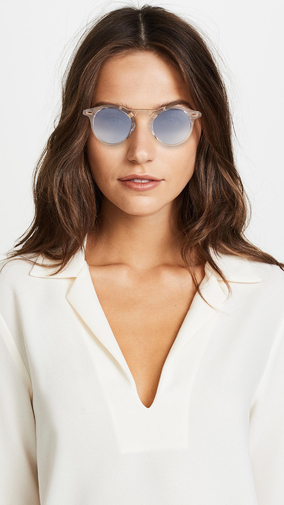 a2b57c1e04d9 Krewe - Gray St Louis Sunglasses - Lyst. View fullscreen