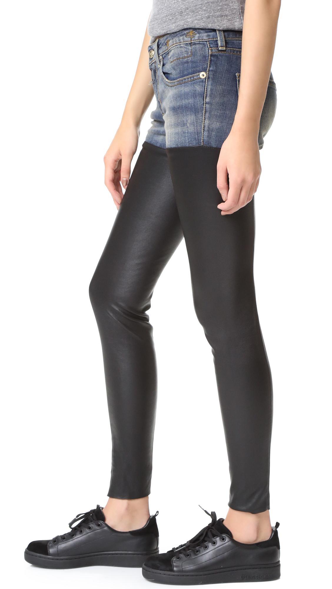 Milf with denim legging