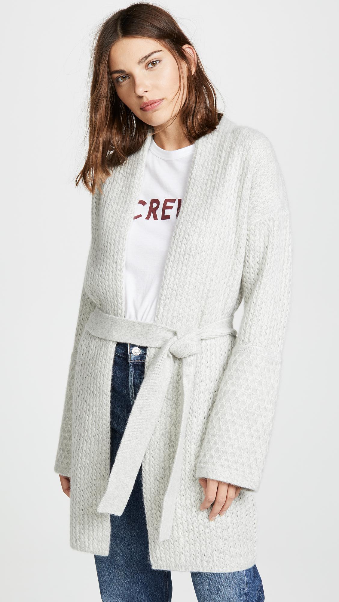 c3eeae92ef Lyst - TSE Cashmere Sweater Coat With Belt in Gray