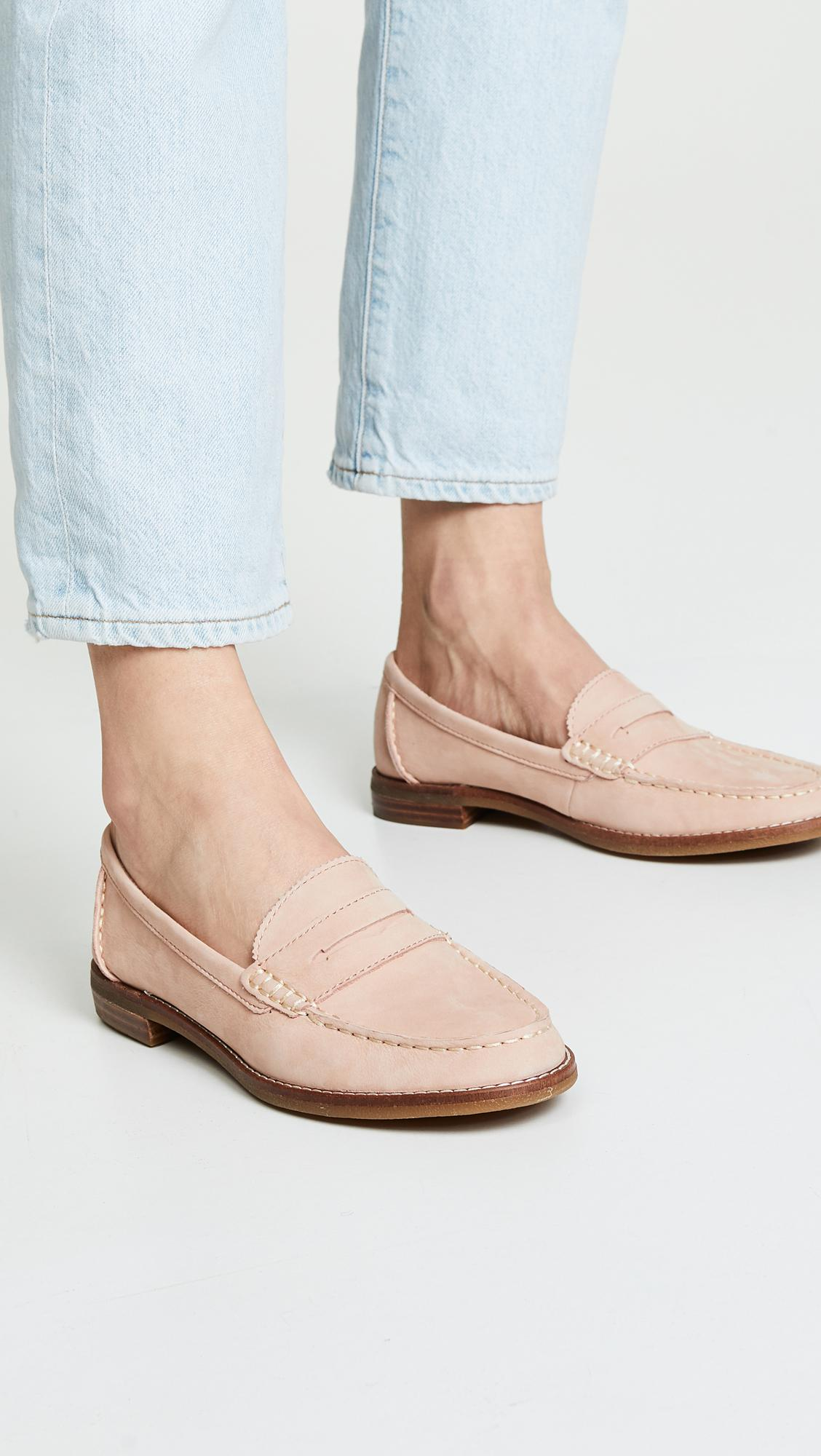 6d74ca0075c Lyst - Sperry Top-Sider Seaport Penny Loafers in Pink