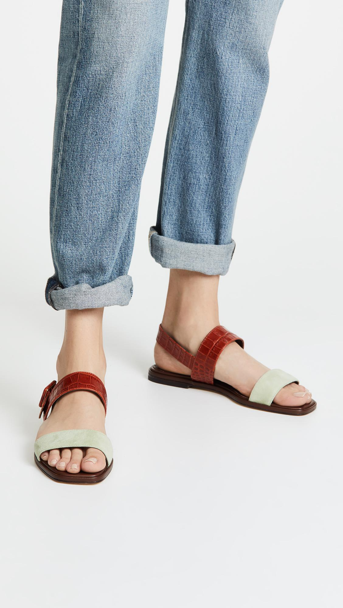 26672f6a3fbb Tory Burch - Multicolor Delaney Flat Sandals - Lyst. View fullscreen