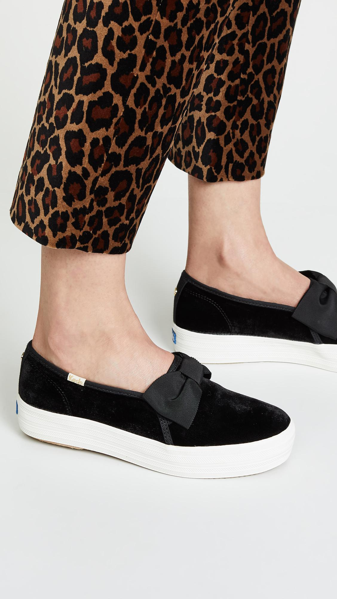 24738d71b97c Keds X Kate Spade New York Triple Decker Sneakers in Black - Lyst