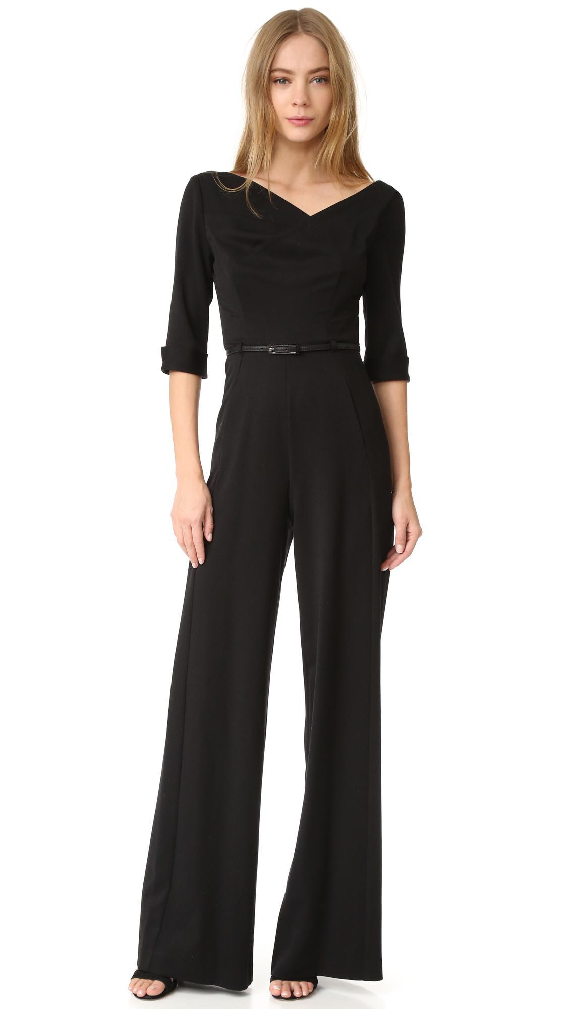 ce5c1fe011fc Lyst - Black Halo 3 4 Sleeve Jackie Jumpsuit in Black
