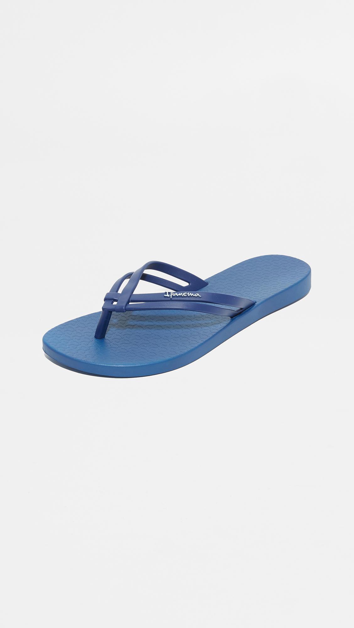 f613a5456589e Ipanema Hashtag Flip Flops in Blue - Save 7% - Lyst