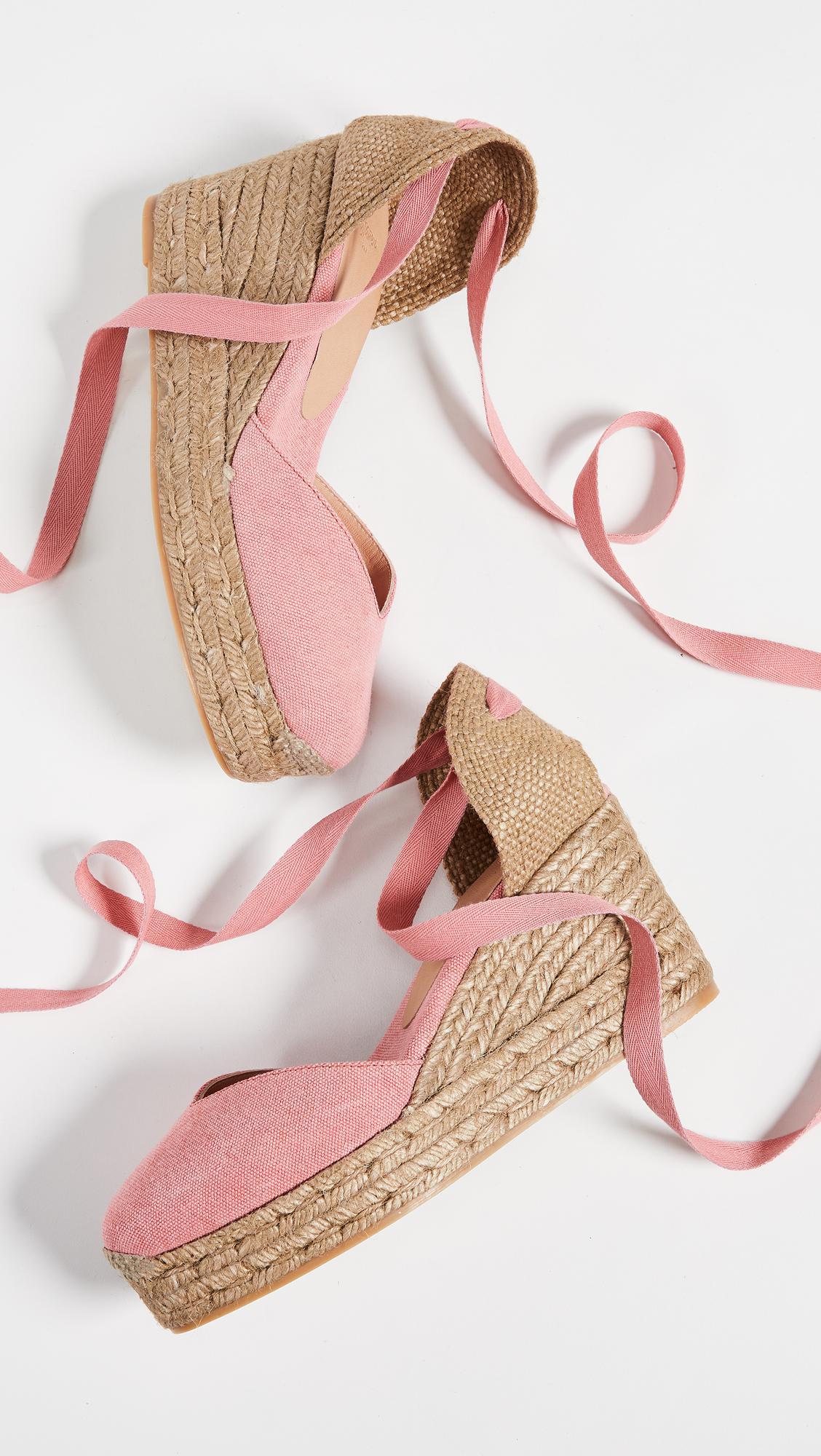 557b043fc0e Castaner Chiara T Wedge Espadrilles in Pink - Lyst