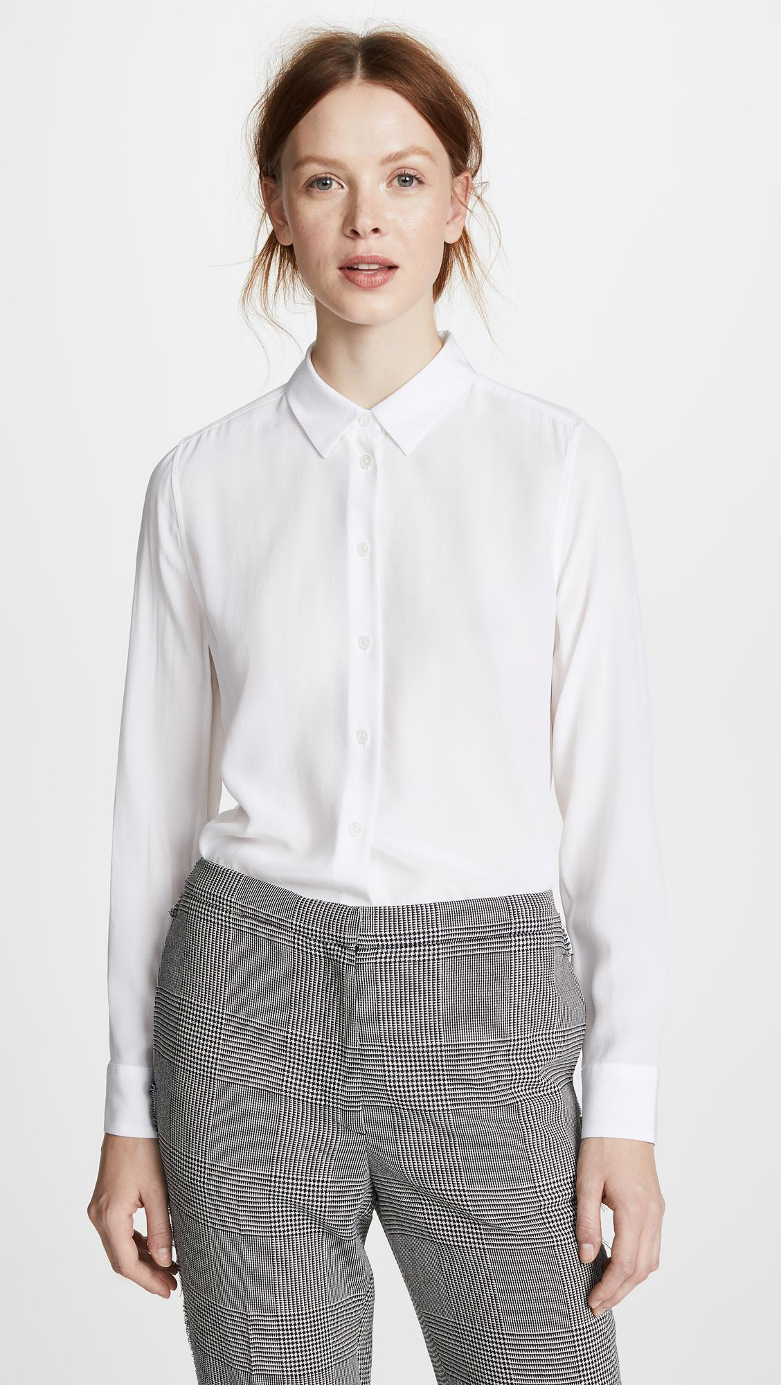 44190696f6bace Lyst - Equipment Essential Blouse in White - Save 1%