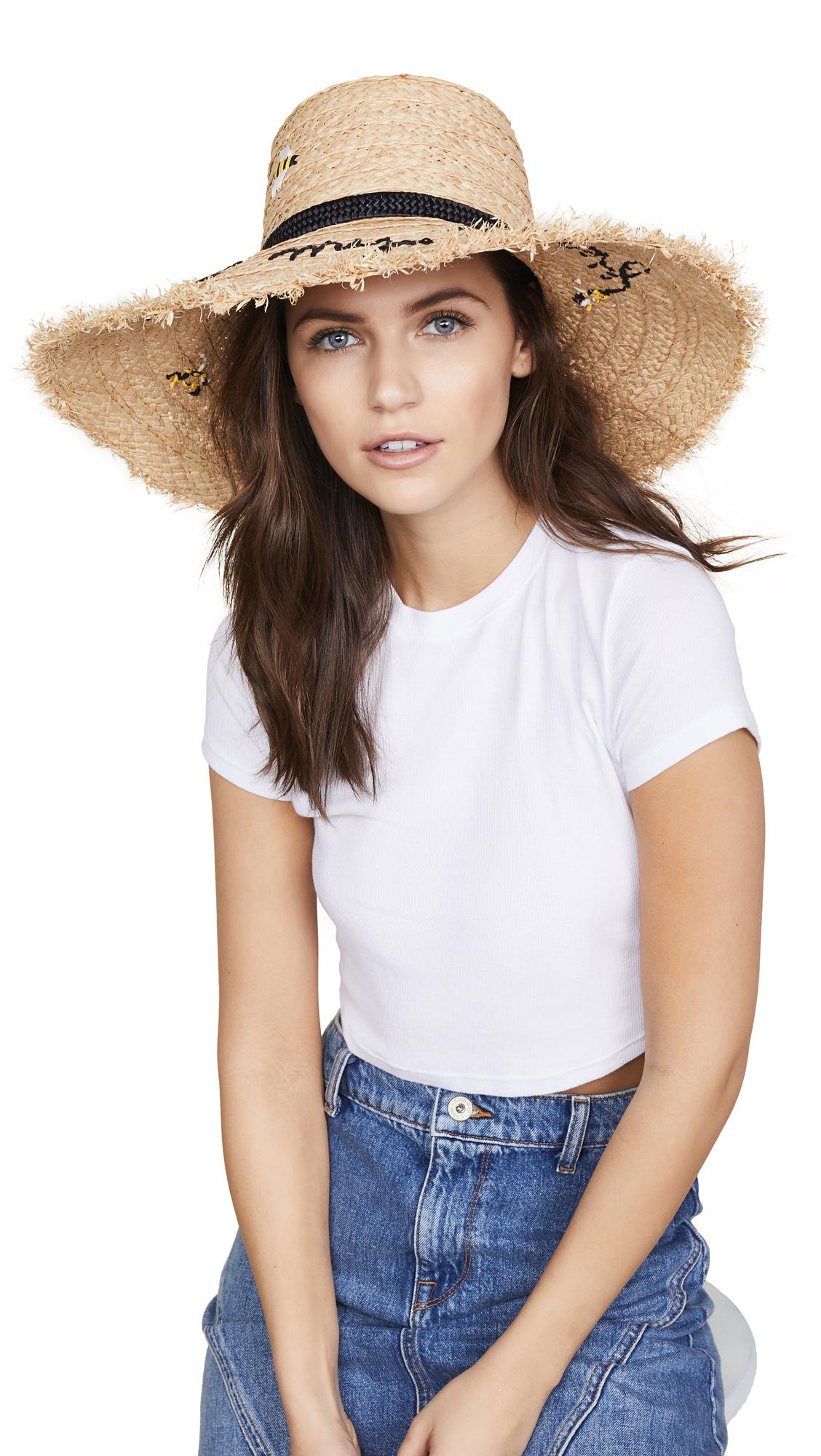 Lyst - Kate Spade Bee My Honey Sun Hat in Natural 5021488d64c