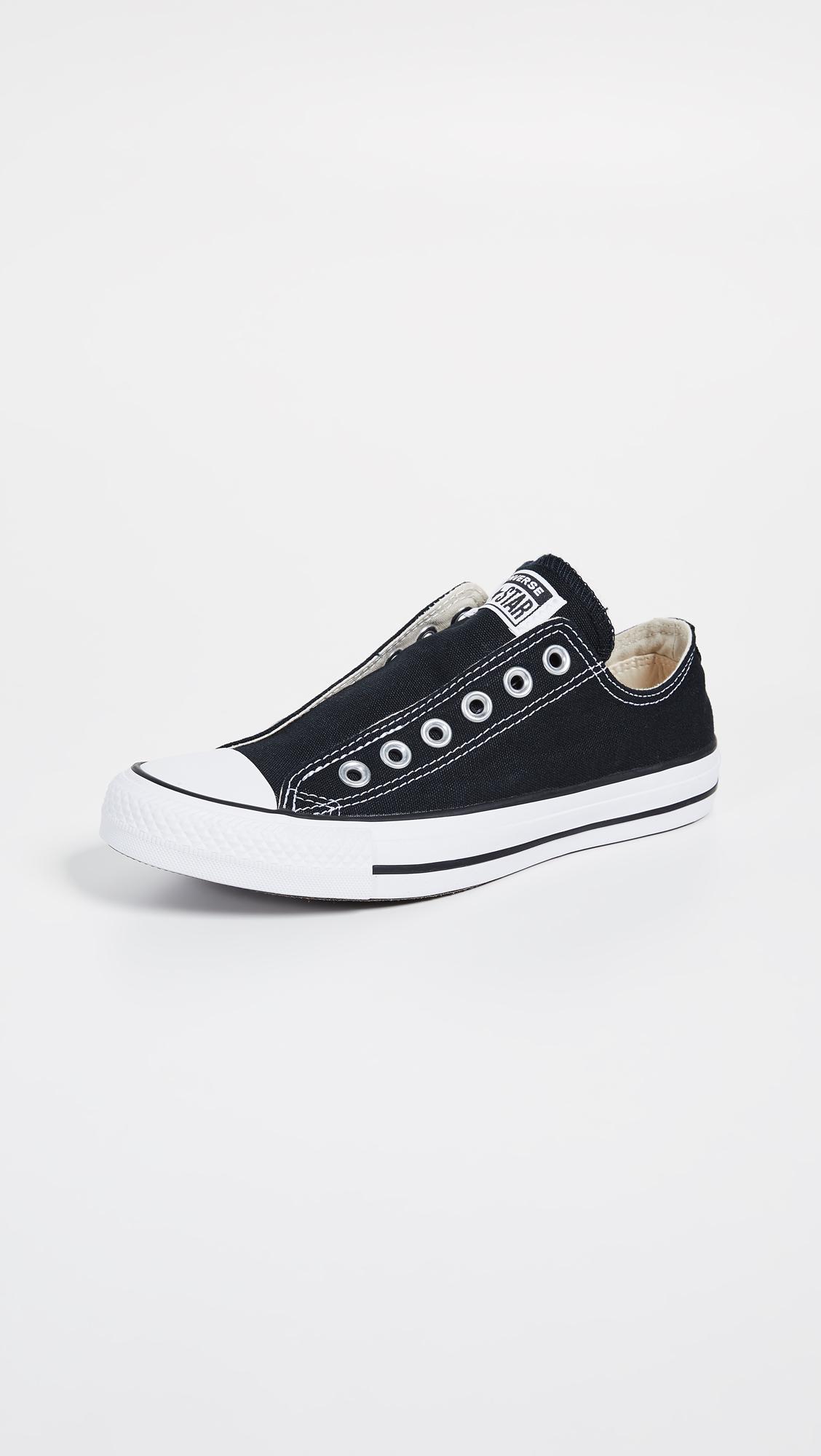 0463e308e3de1 Converse Chuck Taylor All Star Slip On Sneakers in Black - Lyst