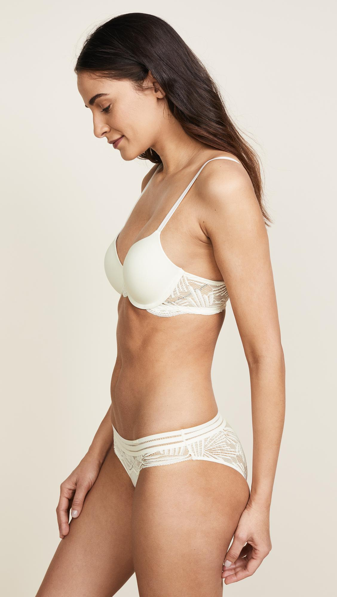 a1b6d74b5b2e92 Lyst - Calvin Klein Perfectly Fit Lightly Lined Full Coverage Bra in ...