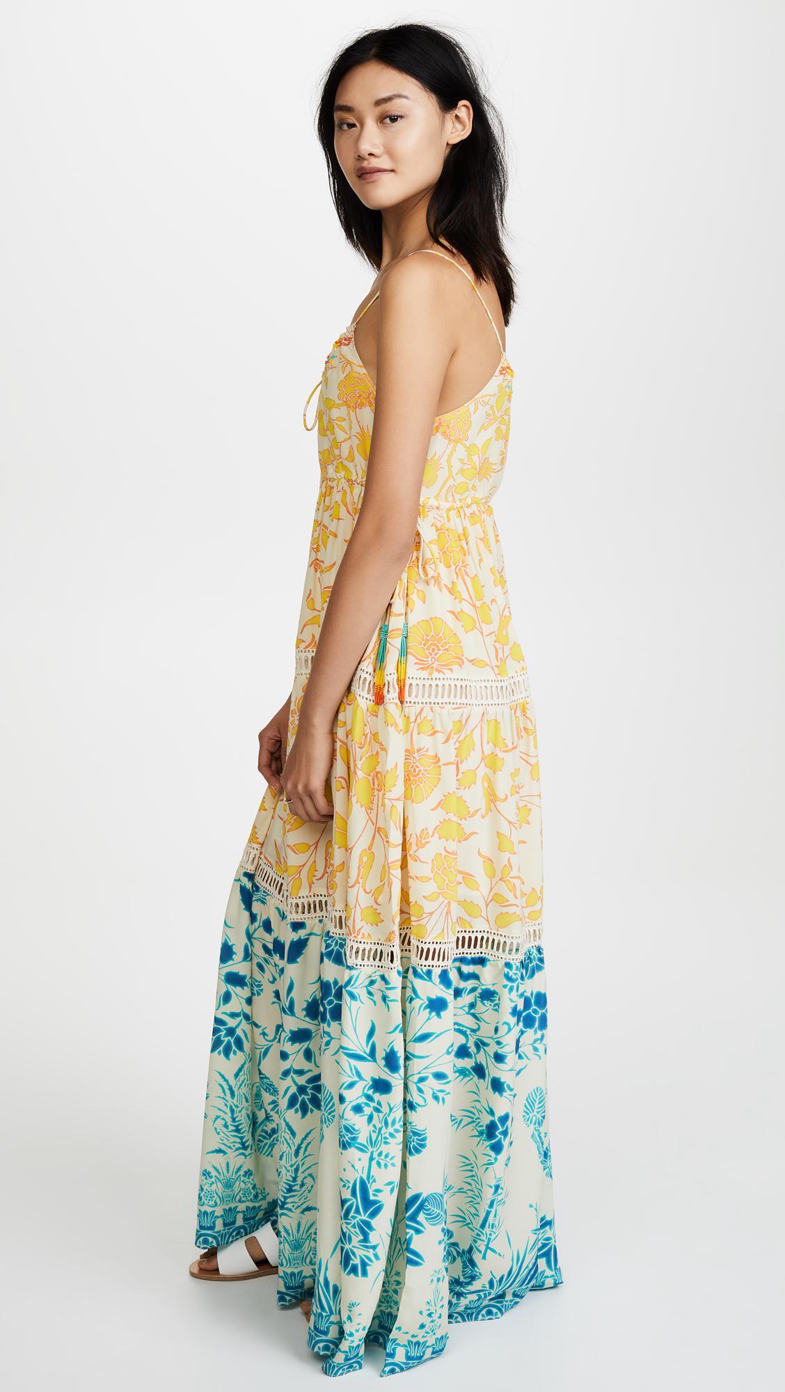 54e8a1c5200 Lyst - Hemant   Nandita Clarion Maxi Dress in Yellow