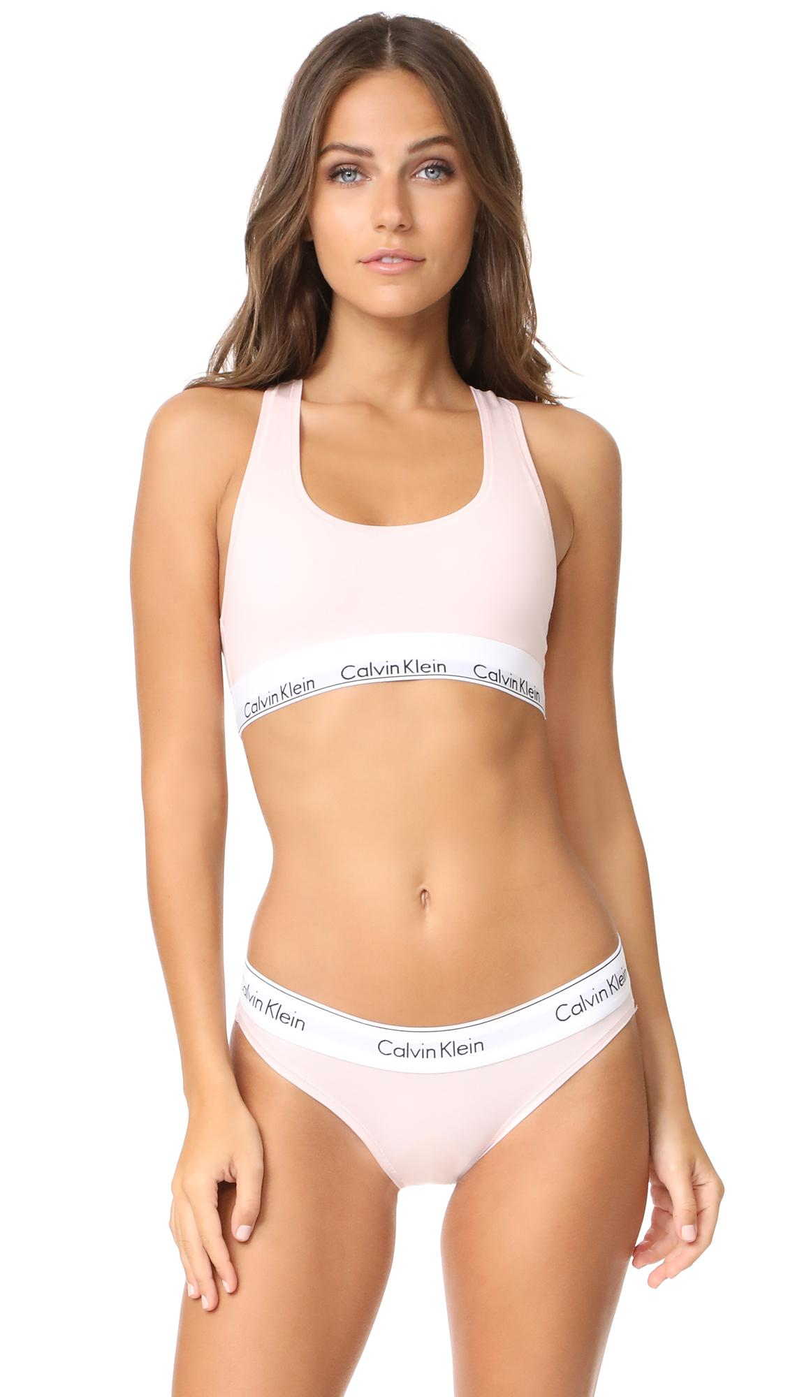 baad29fd18 Calvin Klein - White Modern Cotton Bralette - Lyst. View fullscreen