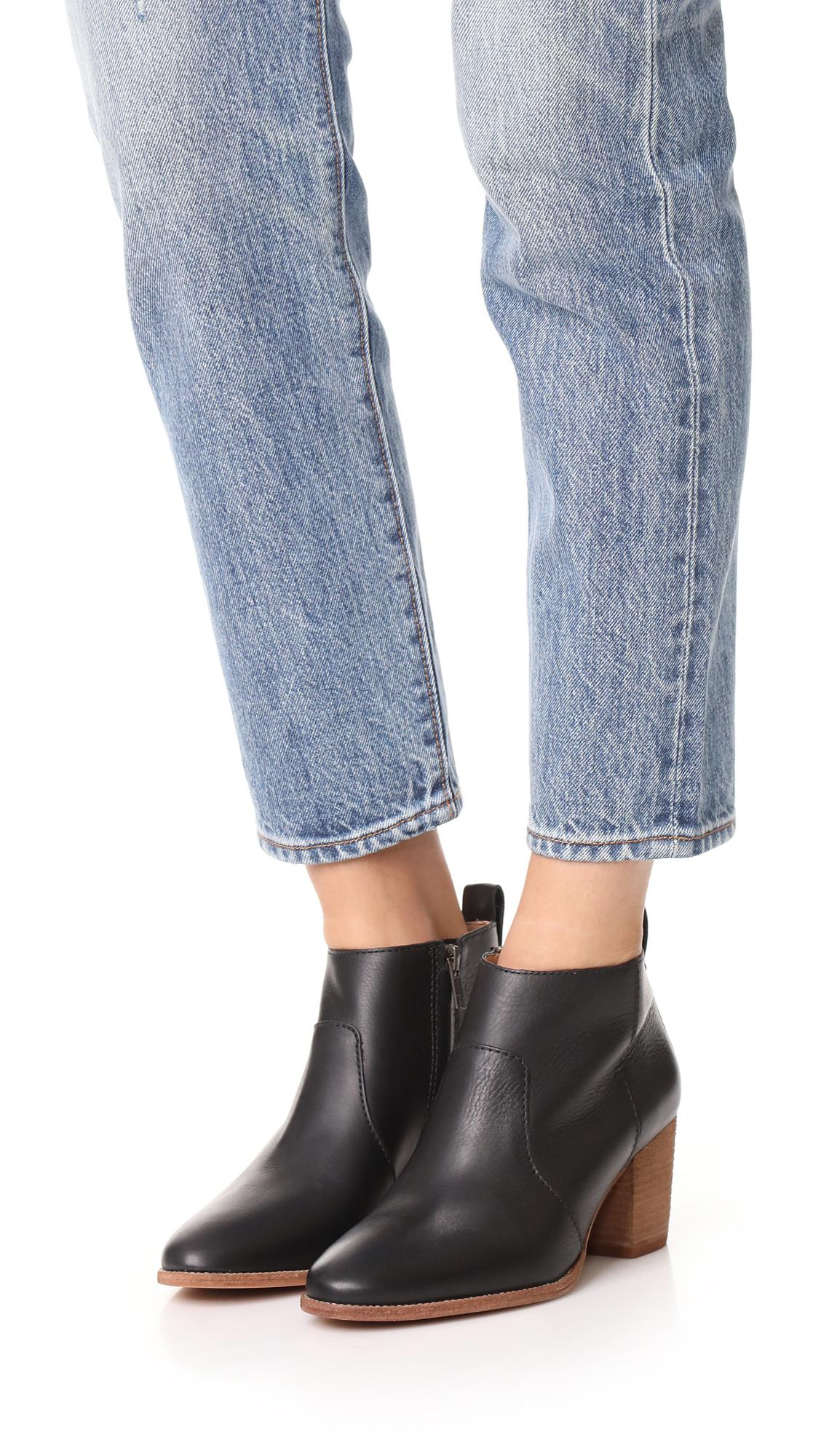 74c77a822 Madewell Brenner Boots in Black - Lyst